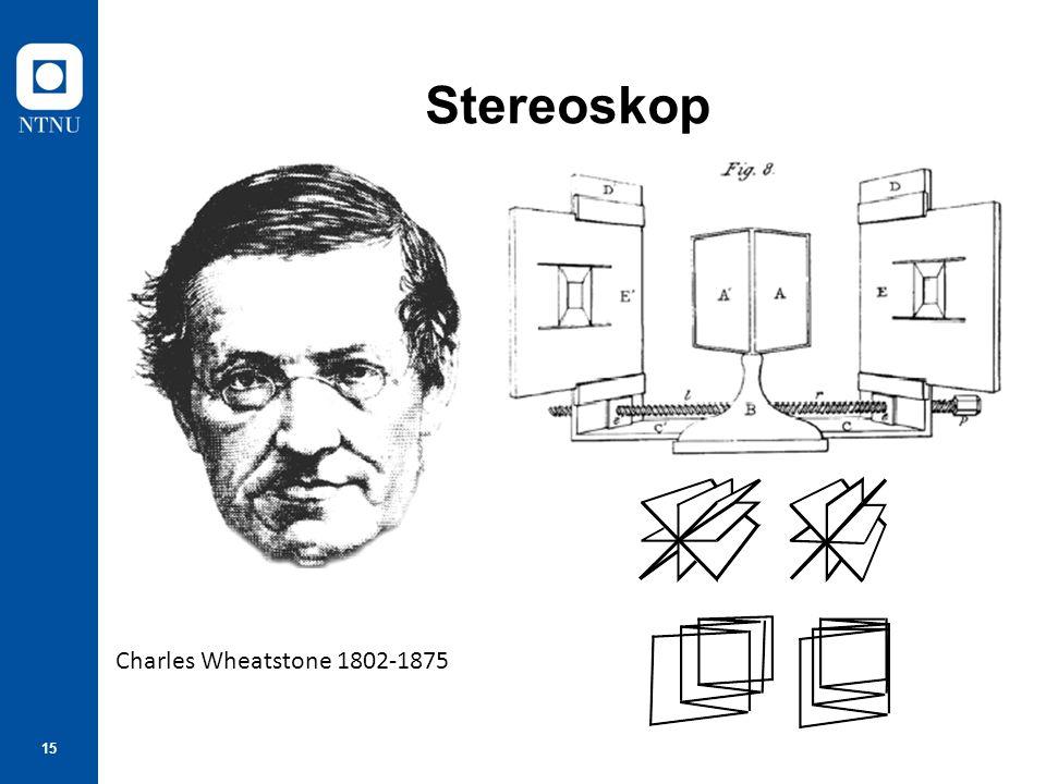 15 Stereoskop Charles Wheatstone 1802-1875