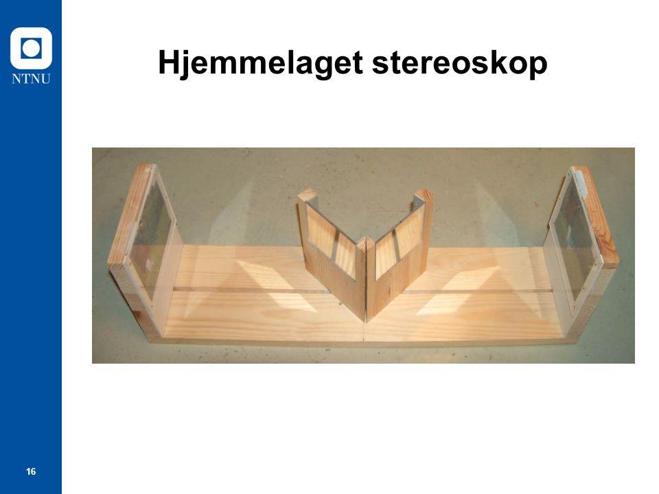 16 Hjemmelaget stereoskop