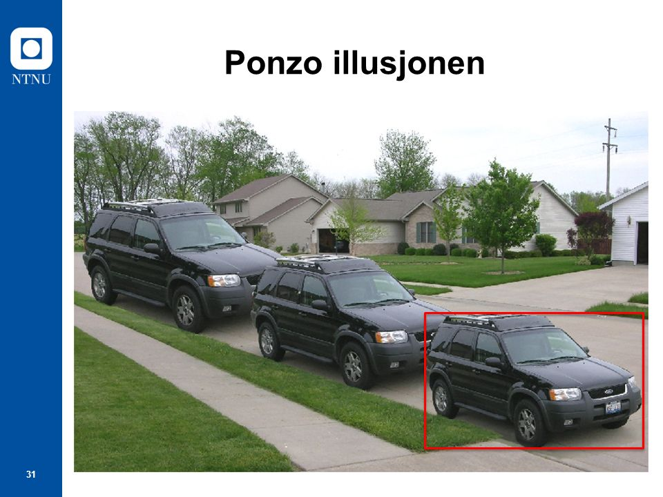 31 Ponzo illusjonen