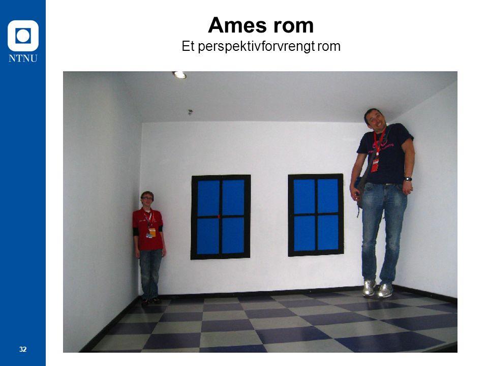 32 Ames rom Et perspektivforvrengt rom