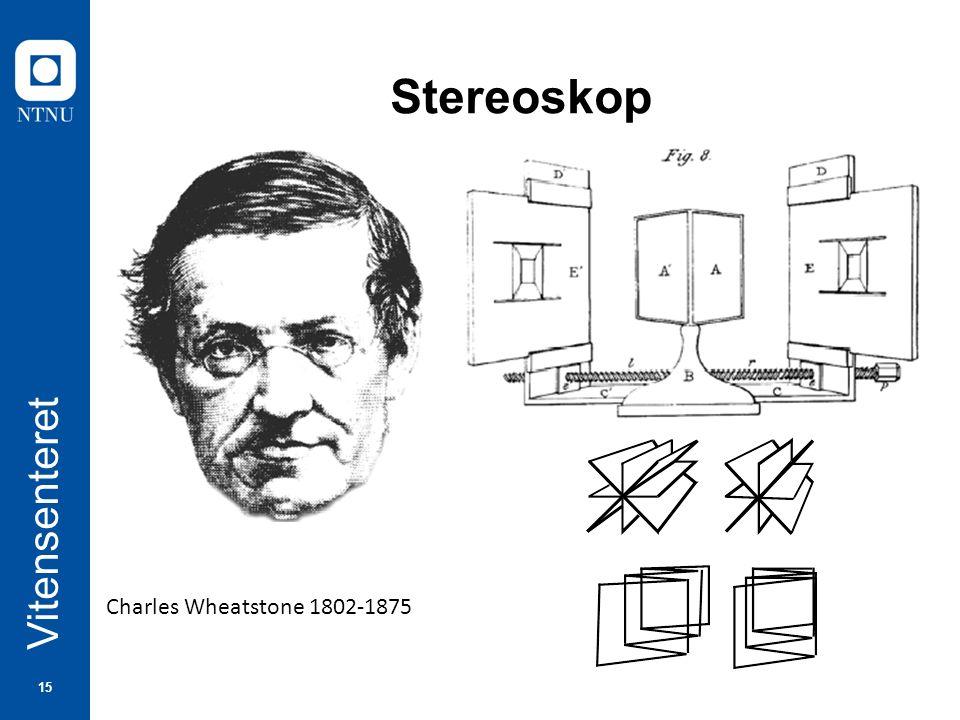 15 Vitensenteret Stereoskop Charles Wheatstone 1802-1875