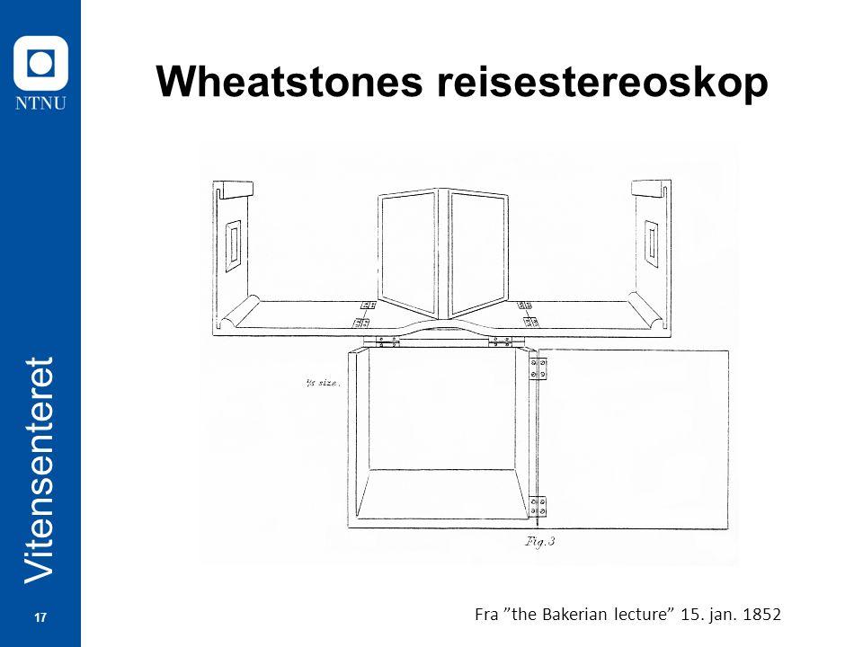 17 Vitensenteret Wheatstones reisestereoskop Fra the Bakerian lecture 15. jan. 1852