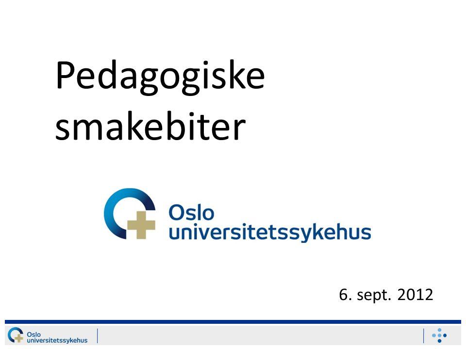 Pedagogiske smakebiter 6. sept. 2012