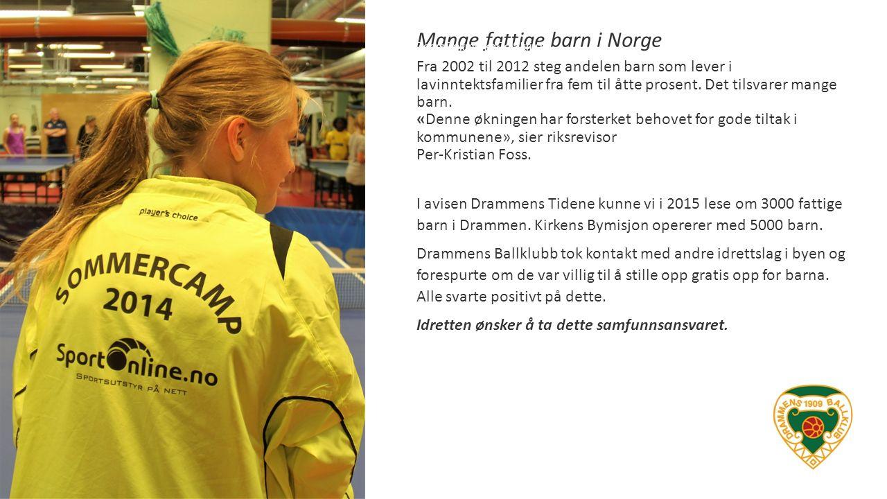Mange fattige barn i Norge ZoomBokmerkeDelSkriv ut Fra 2002 til 2012 steg andelen barn som lever i lavinntektsfamilier fra fem til åtte prosent. Det t