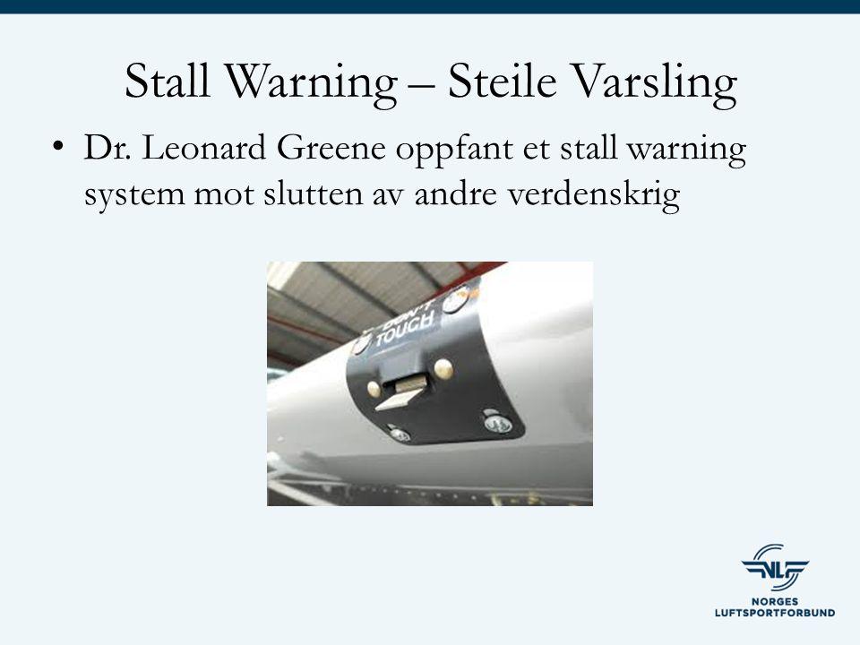 Stall Warning – Steile Varsling Dr.