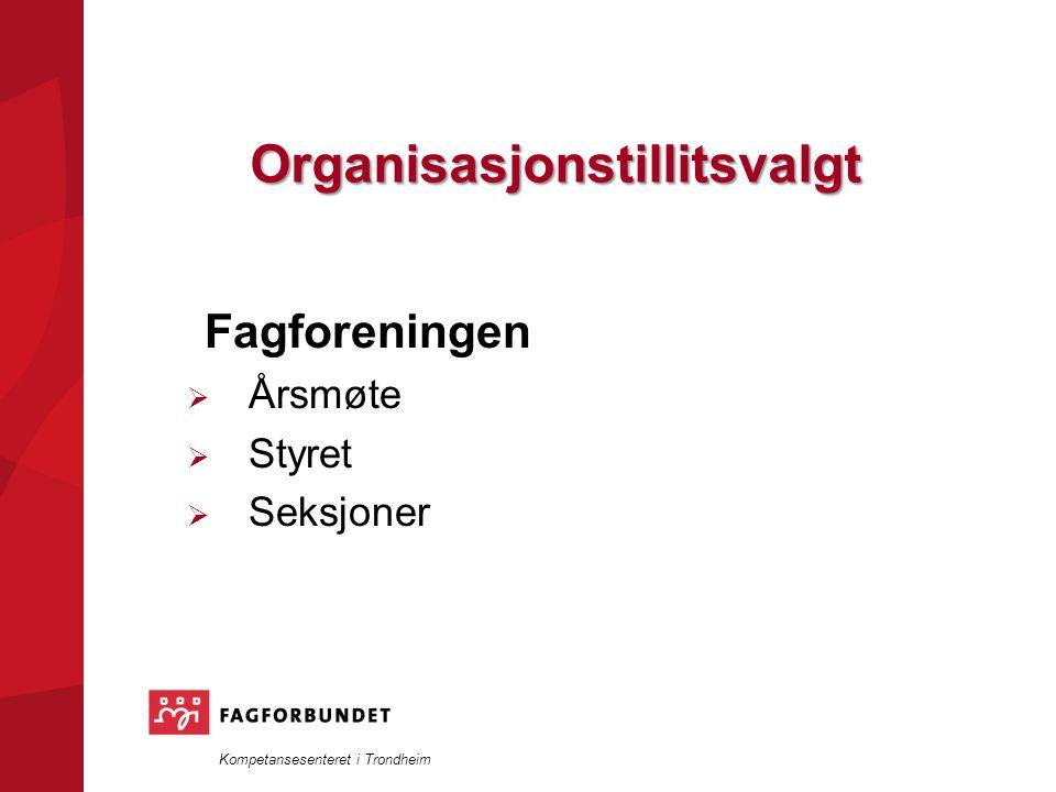 Kompetansesenteret i Trondheim Organisasjonstillitsvalgt Fagforeningen  Årsmøte  Styret  Seksjoner