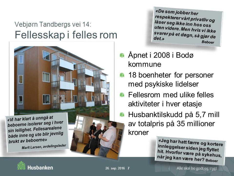 Vebjørn Tandbergs vei 14: Fellesskap i felles rom 26.