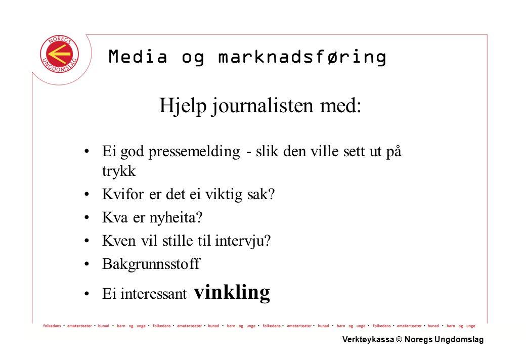 Hjelp journalisten med: Ei god pressemelding - slik den ville sett ut på trykk Kvifor er det ei viktig sak.