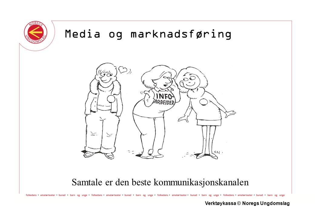 Samtale er den beste kommunikasjonskanalen Verktøykassa © Noregs Ungdomslag Media og marknadsføring
