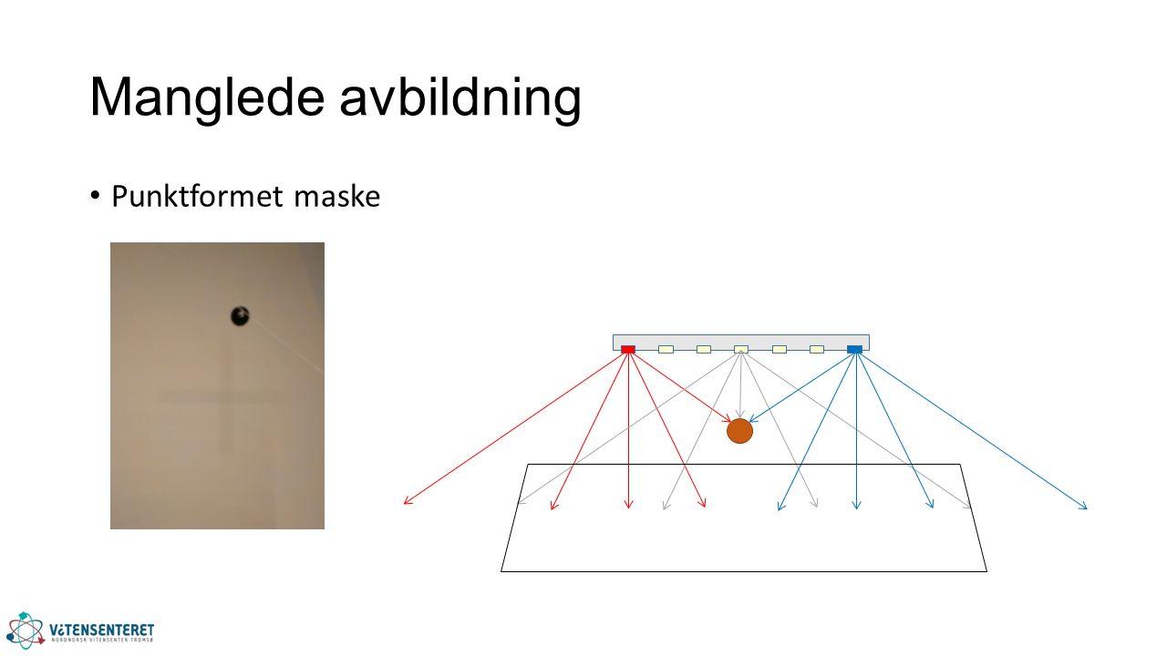 Manglede avbildning Punktformet maske
