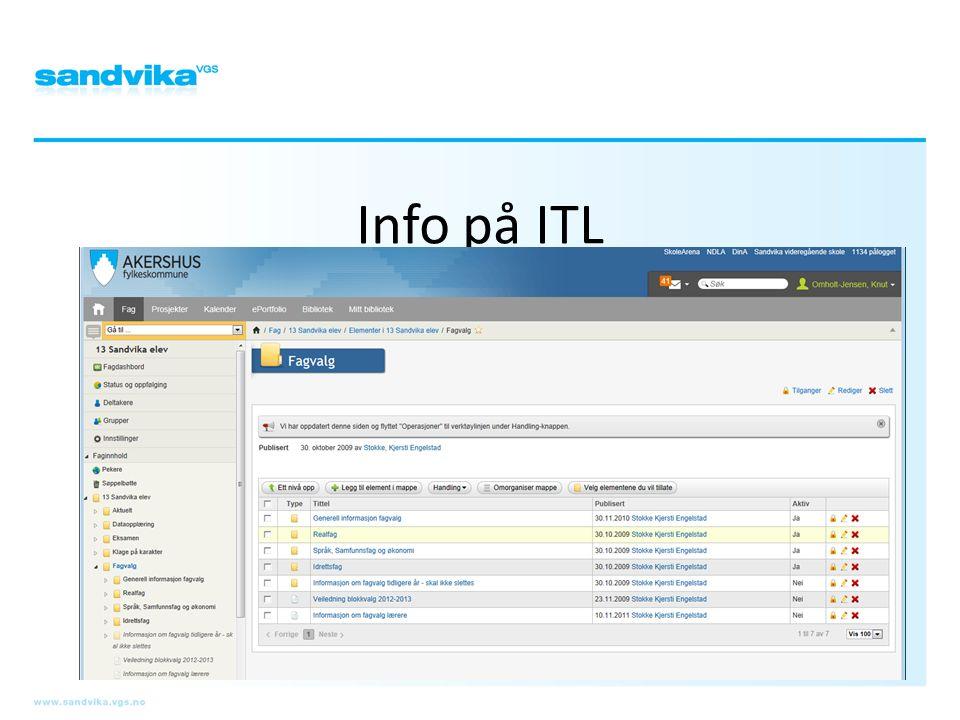 Info på ITL