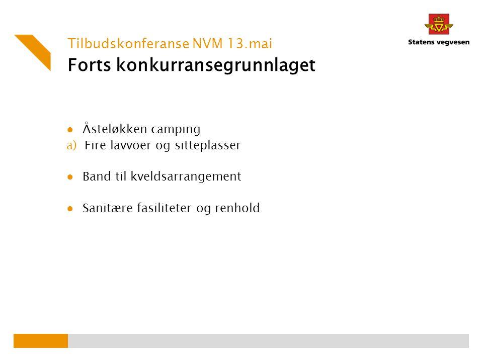 Videre prosess v/Leif Oddbjørn Møller Tilbudskonferanse NVM 13.mai