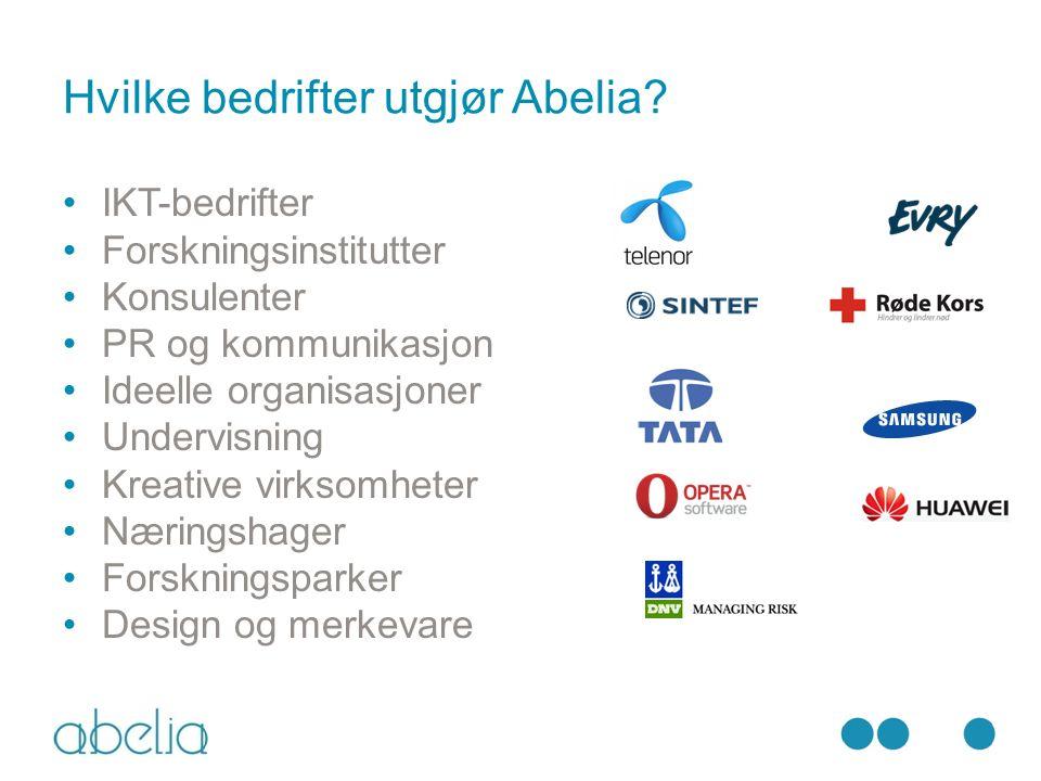 Hvilke bedrifter utgjør Abelia.