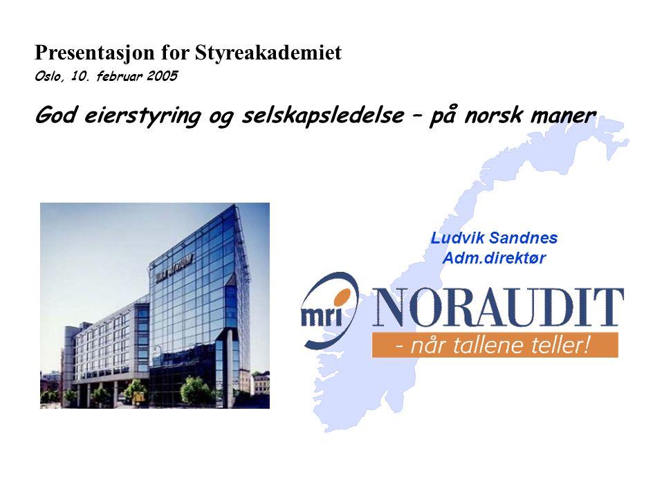 Presentasjon for Styreakademiet Oslo, 10.