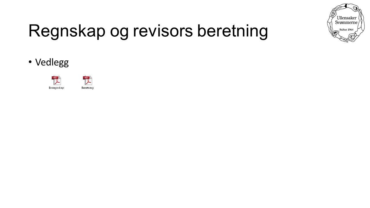 Regnskap og revisors beretning Vedlegg