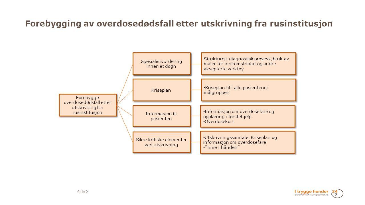 Forebygging av overdosedødsfall etter utskrivning fra rusinstitusjon Side 2