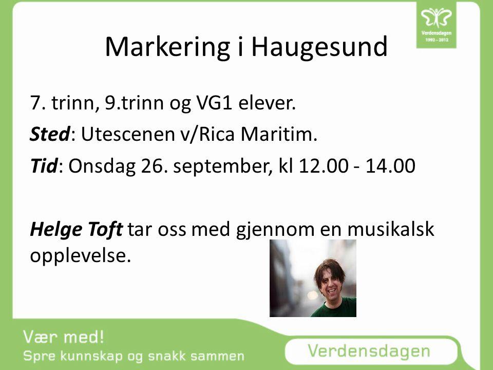 Markering i Haugesund 7. trinn, 9.trinn og VG1 elever.