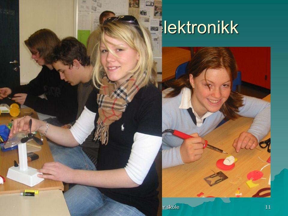 Runar Baune, Hovseter skole 11 Innledning til elektronikk