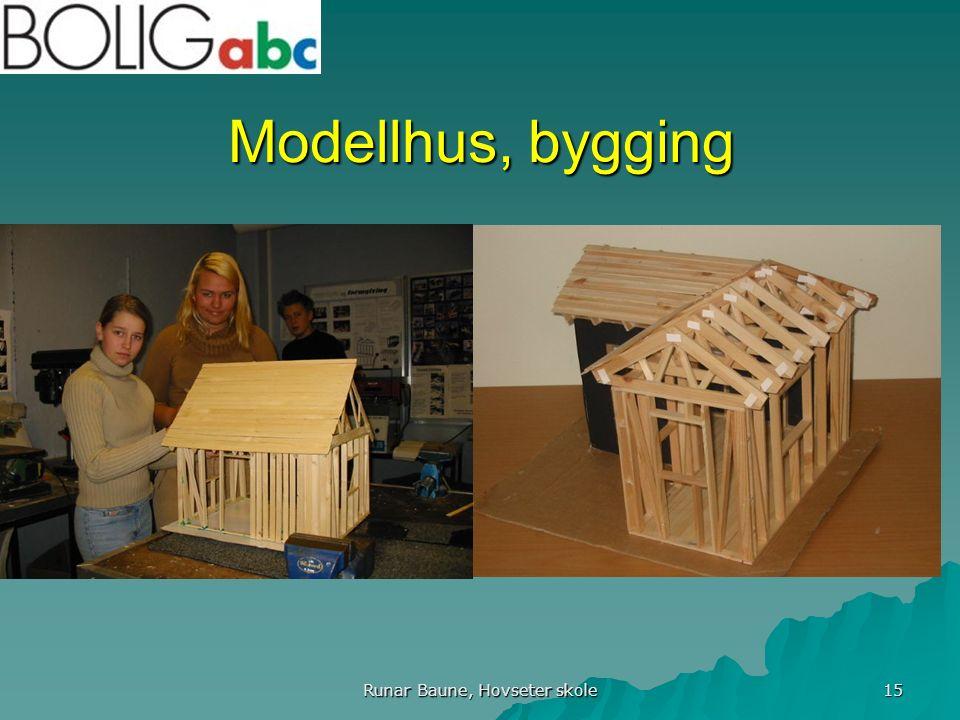 Runar Baune, Hovseter skole 15 Modellhus, bygging
