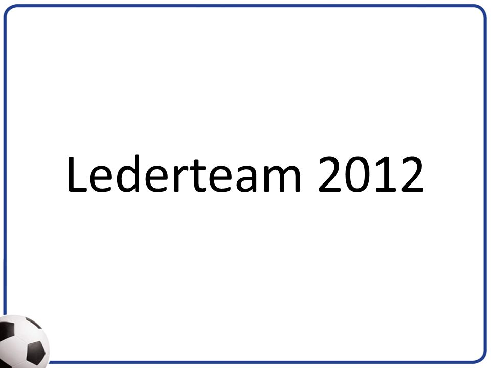 Lederteam 2012