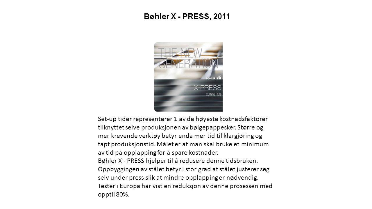 Polytop Mx - syntetisk utstøtermateriale, 2011 Rask produksjonshastighet med lavere press og mindre vedlikehold.