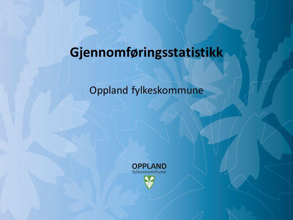 Mulighetenes Oppland SSB gjennomføringsstatistikk – 2009-kullet - Fortsatt 70 % Kilde: SSB, ssb.no