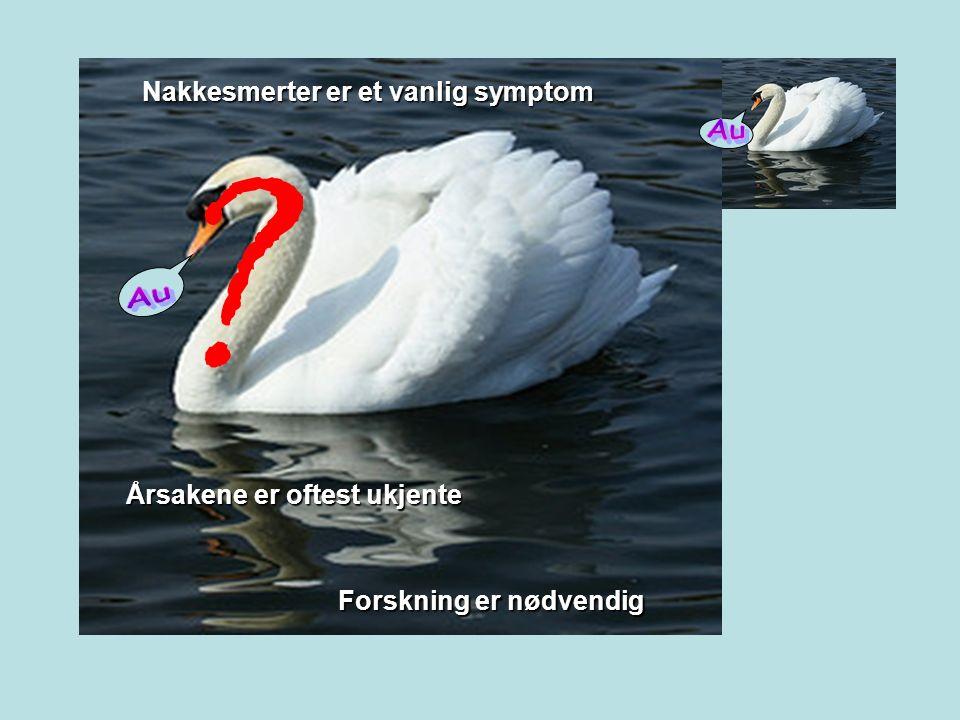 Årsakene er oftest ukjente Forskning er nødvendig Nakkesmerter er et vanlig symptom