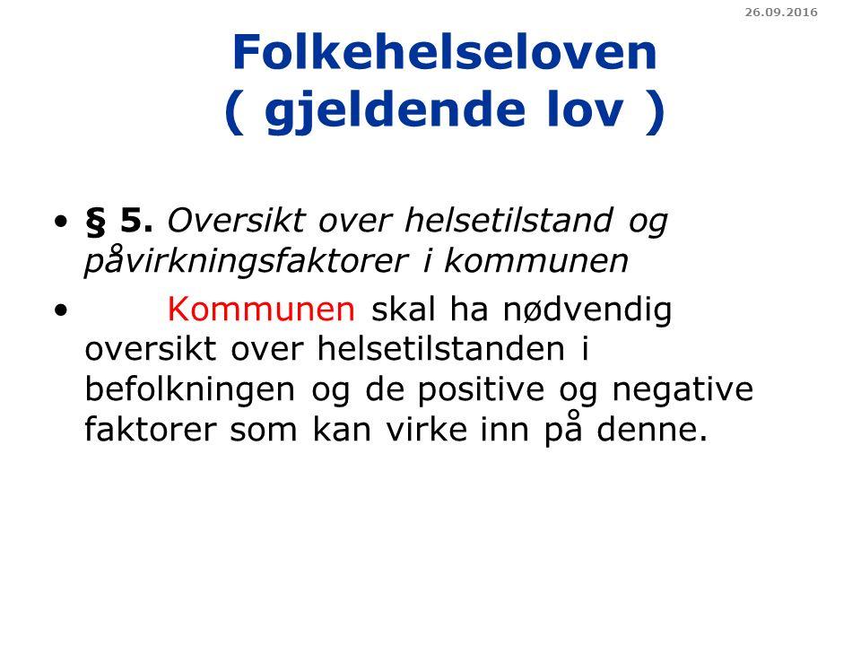 Folkehelseloven ( gjeldende lov ) § 5.