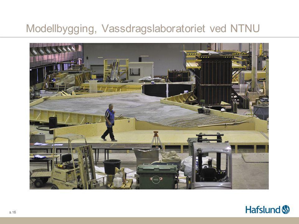 s.15 Modellbygging, Vassdragslaboratoriet ved NTNU