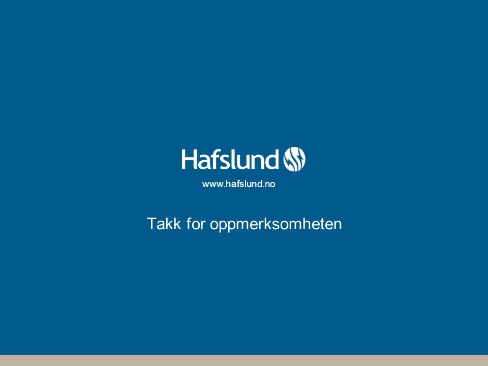 www.hafslund.no Takk for oppmerksomheten