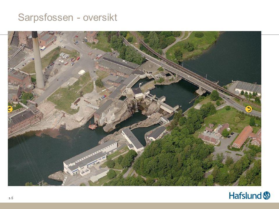 s.5 Sarpsfossen - oversikt