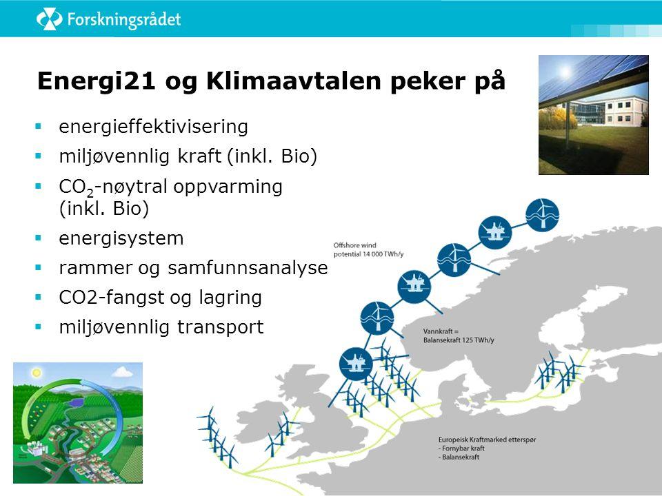 Energi21 og Klimaavtalen peker på  energieffektivisering  miljøvennlig kraft (inkl.