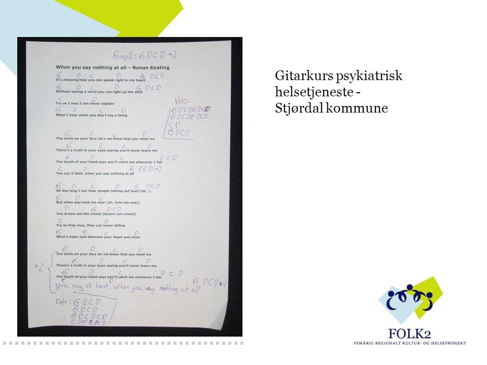 Gitarkurs psykiatrisk helsetjeneste - Stjørdal kommune