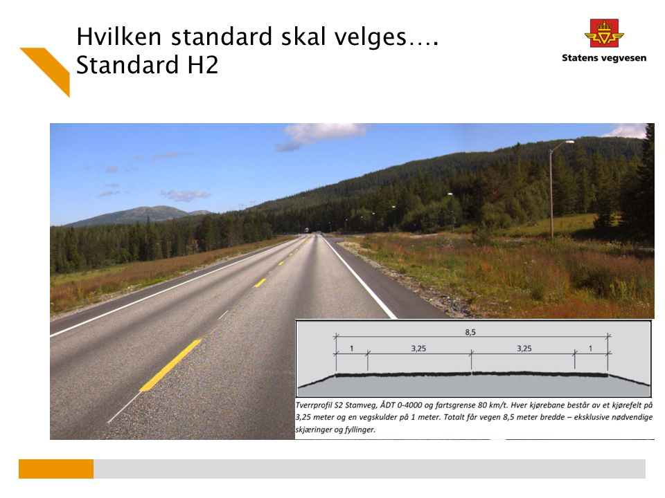 Hvilken standard skal velges…. Standard H2