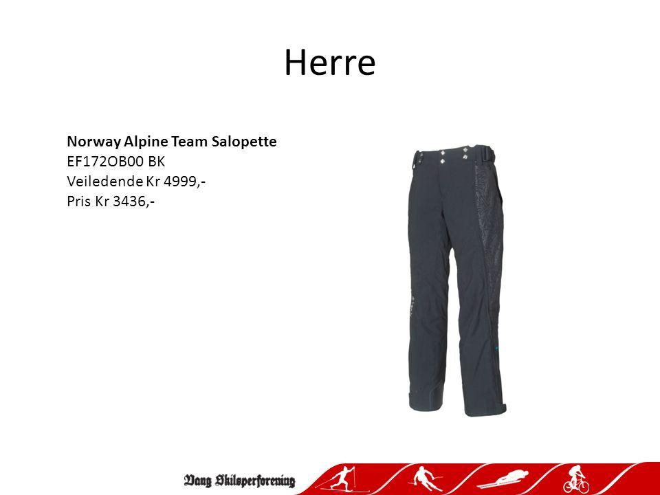Herre Norway Alpine Team Salopette EF172OB00 BK Veiledende Kr 4999,- Pris Kr 3436,-