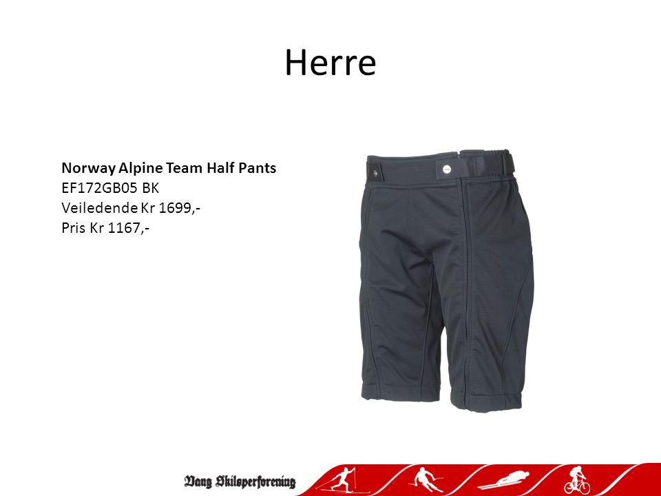 Herre Norway Alpine Team Half Pants EF172GB05 BK Veiledende Kr 1699,- Pris Kr 1167,-