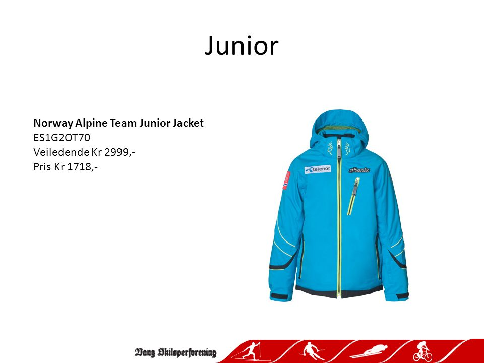 Junior Norway Alpine Team Junior Salopette ES1G2OB70 BK Veiledende Kr 2499,- Pris Kr 1717,-