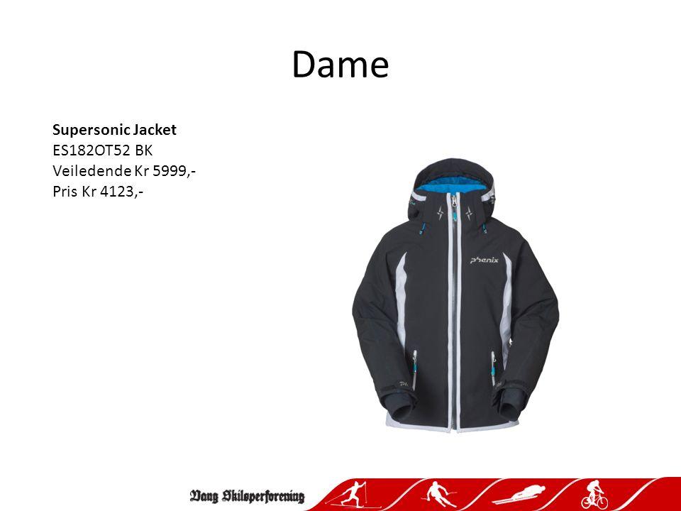 Dame Supersonic Jacket ES182OT52 BK Veiledende Kr 5999,- Pris Kr 4123,-