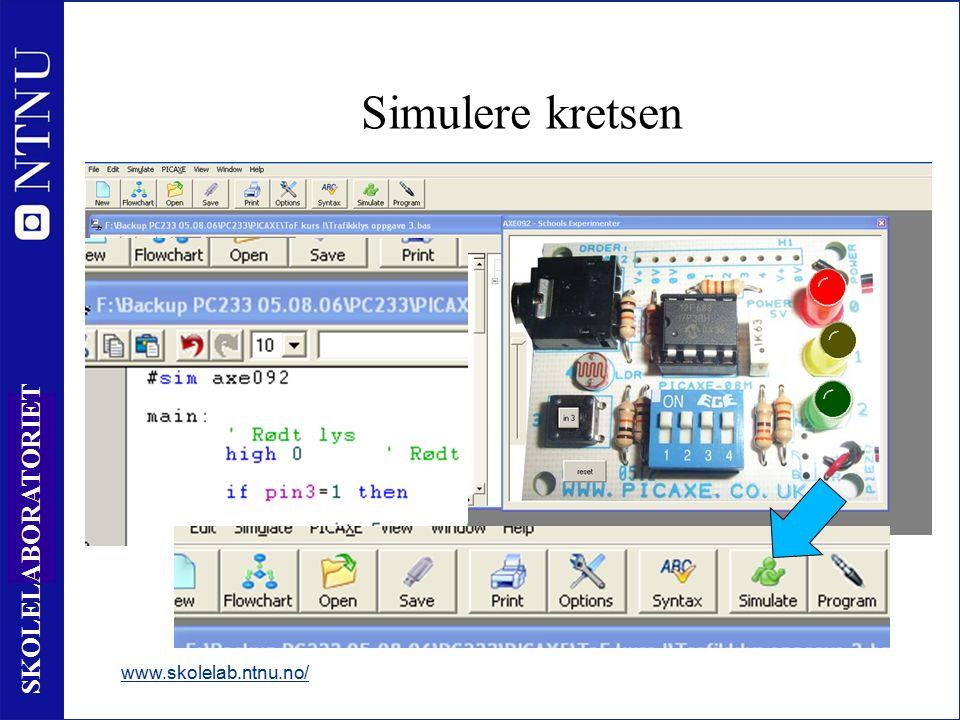 17 SKOLELABORATORIET Simulere kretsen www.skolelab.ntnu.no/