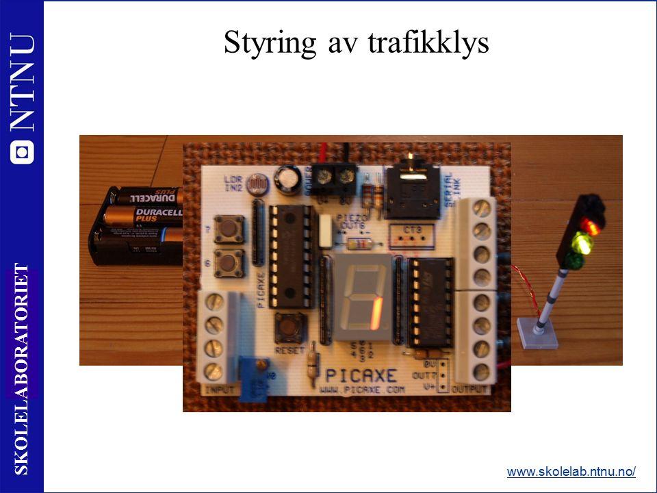 38 SKOLELABORATORIET Styring av trafikklys www.skolelab.ntnu.no/