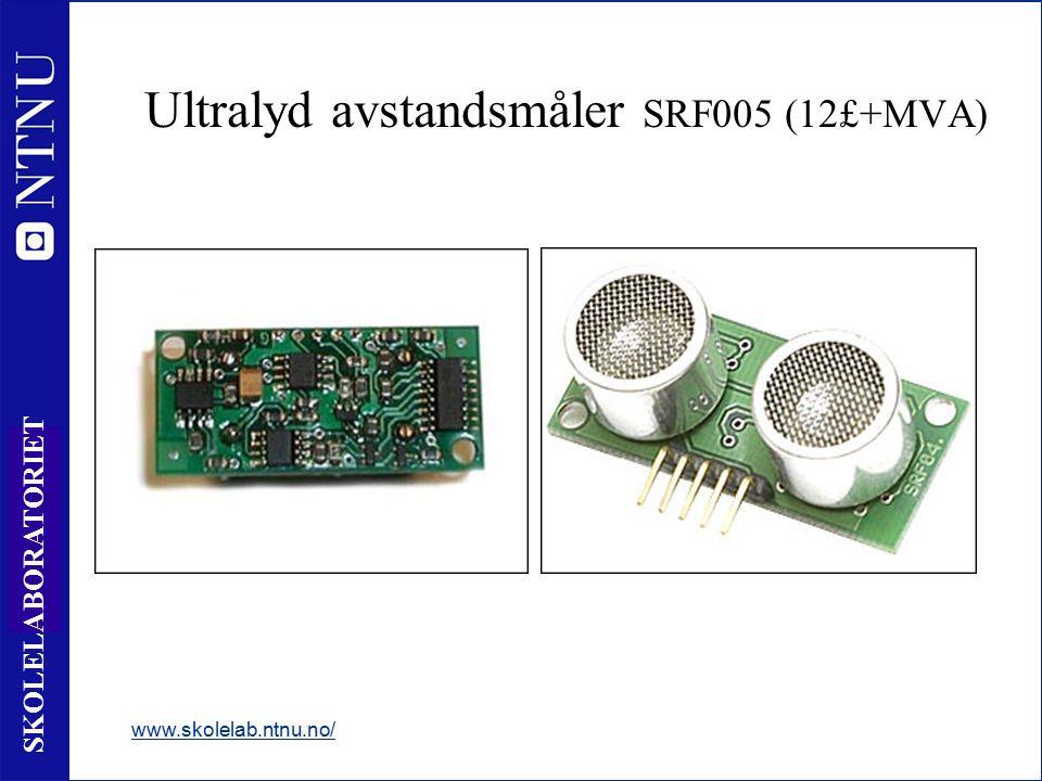 44 SKOLELABORATORIET www.skolelab.ntnu.no/ Ultralyd avstandsmåler SRF005 (12£+MVA)