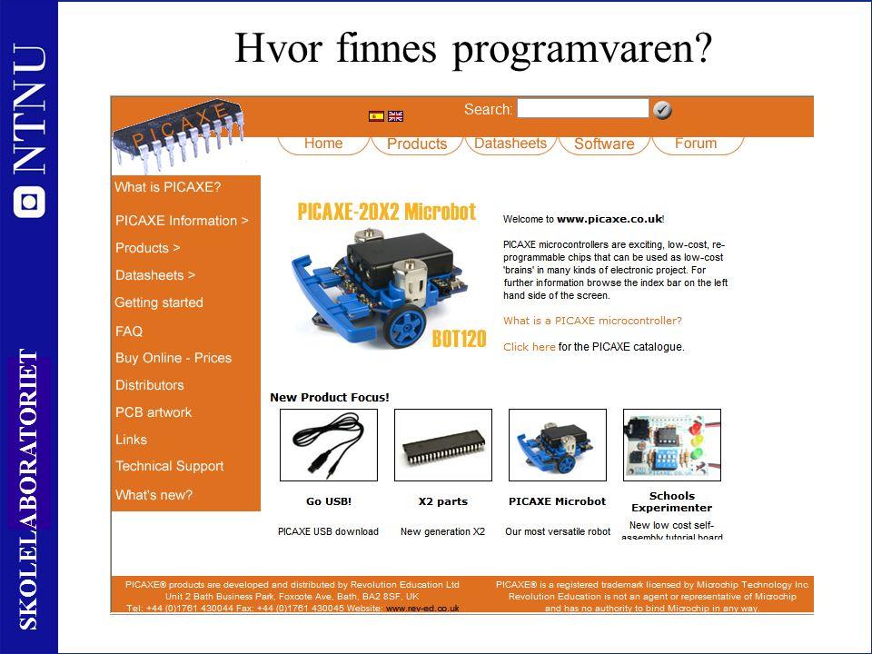 40 SKOLELABORATORIET Oversikt over kontrollere www.skolelab.ntnu.no/