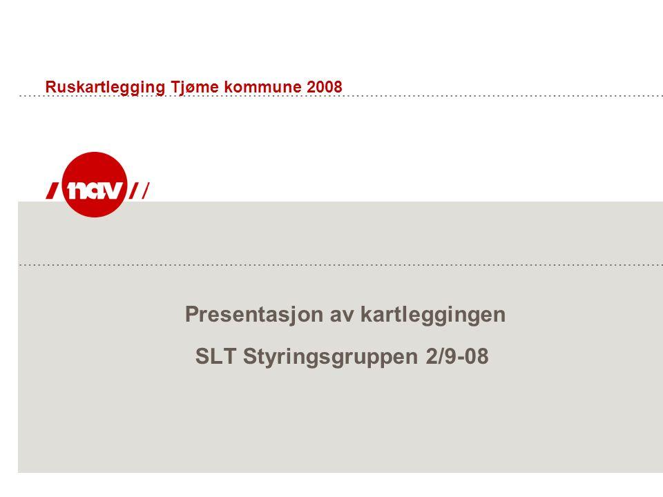 Presentasjon av kartleggingen SLT Styringsgruppen 2/9-08 Ruskartlegging Tjøme kommune 2008