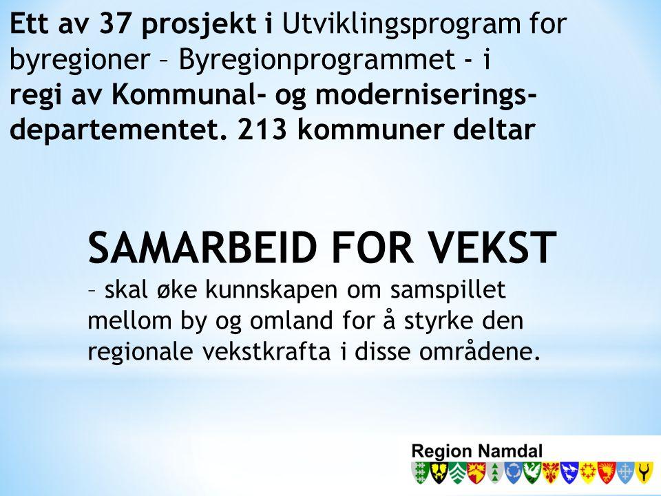 Fase 1: Samfunnsanalyse Namdalsregionen.Samhandlingen mellom Namsos som regionby og omlandet.