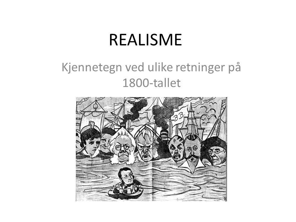 En gullalder i norsk litteratur Poetisk realisme: ca.