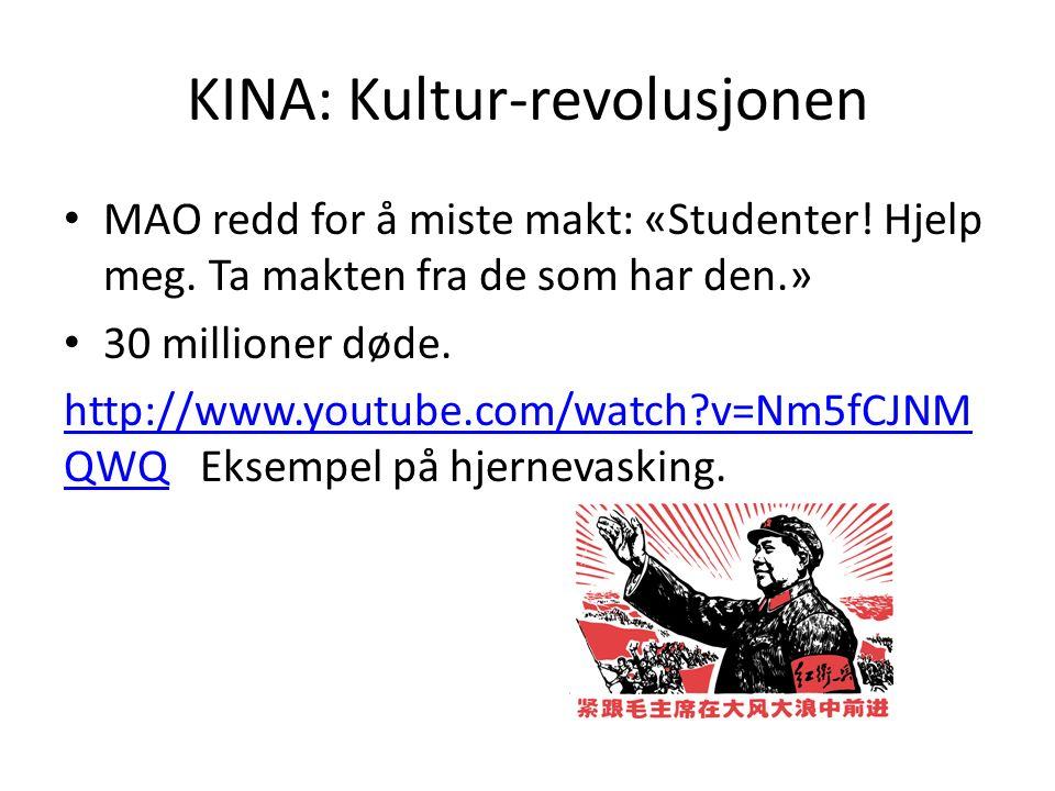 KINA: Kultur-revolusjonen MAO redd for å miste makt: «Studenter.