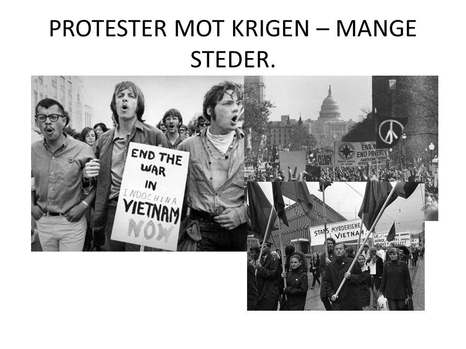 PROTESTER MOT KRIGEN – MANGE STEDER.