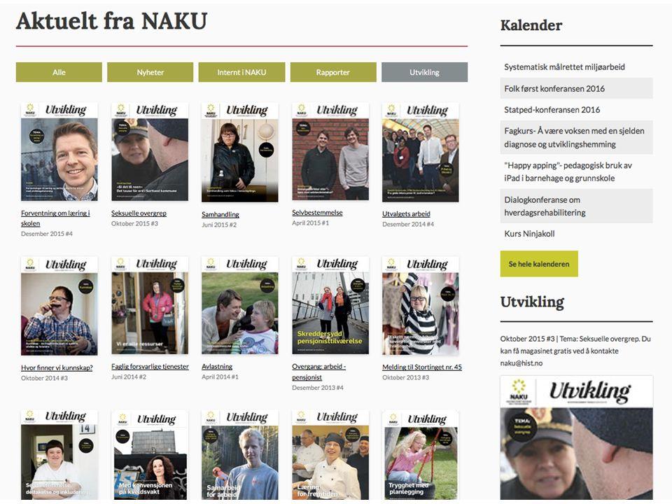 Gratis abonnement på magasinet UTVI Bestilles kostnadsfritt ved å kontakte naku@hist.no