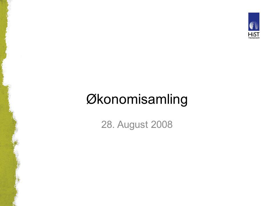 Økonomisamling 28. August 2008