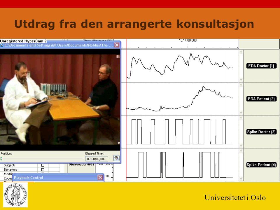 Universitetet i Oslo Utdrag fra den arrangerte konsultasjon